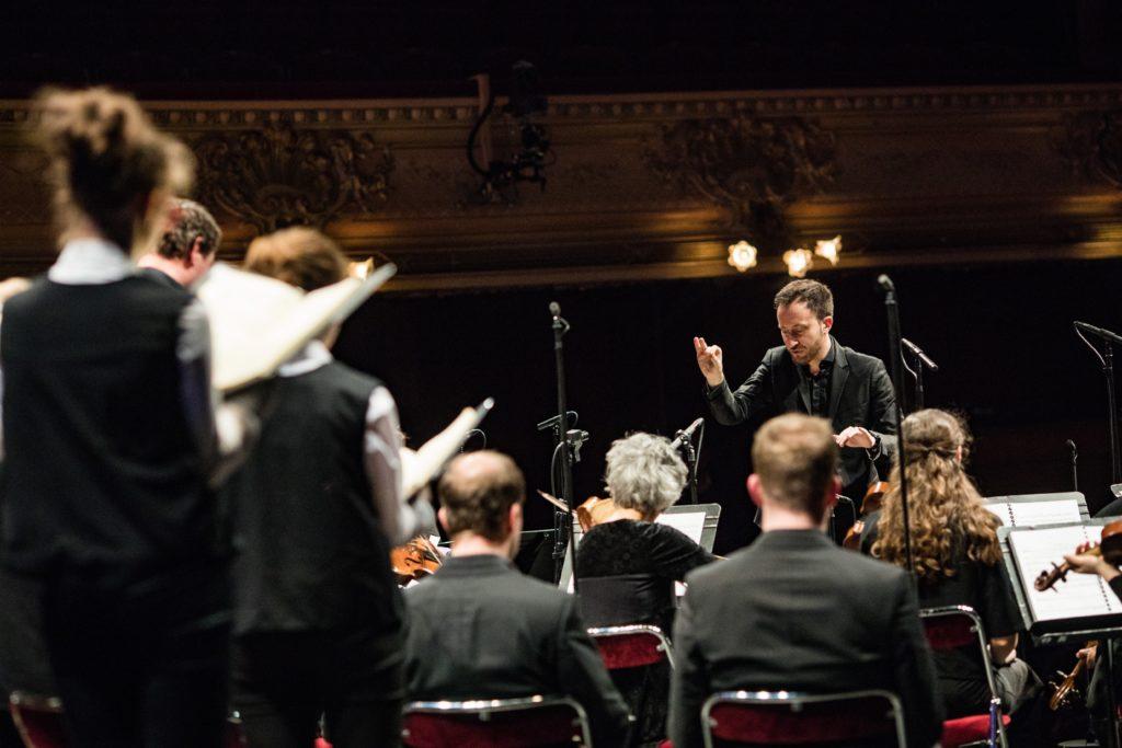 Le Banquet Céleste : La Passion selon Saint-Jean de Jean-Sébastien Bach à l'Opéra de Rennes Mars 2019. Le Banquet Céletse (Direction Damien Guillon) est accompagné par le Choeur Mélisme-s et la Maîtise de Bretagne. - credit Laurent Guizard