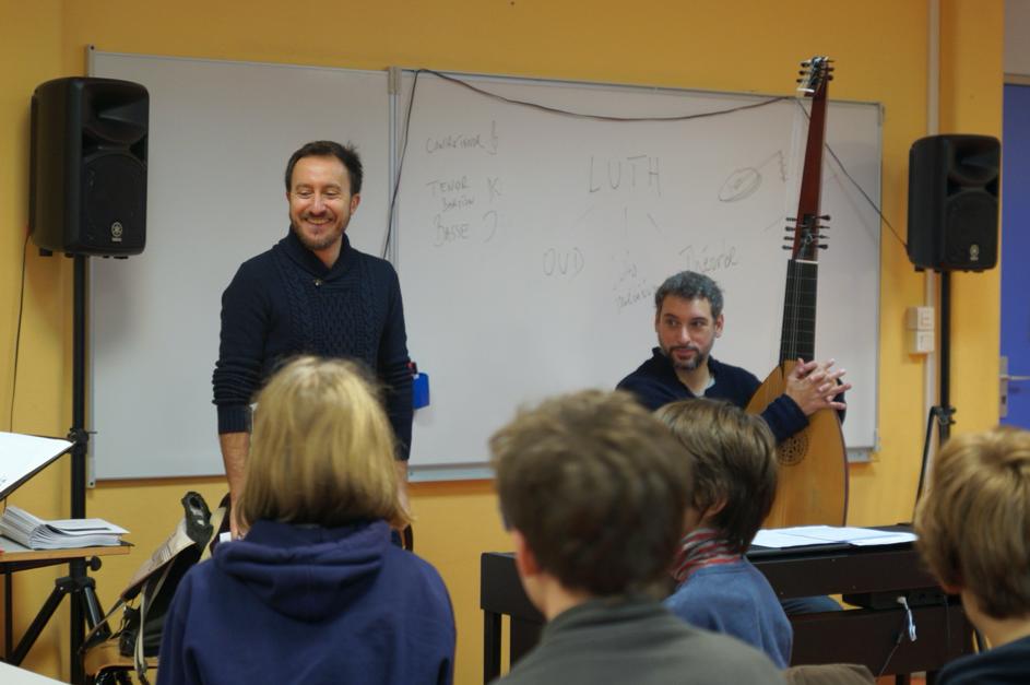 Rencontre avec Damien Guillon et Bruno Helstroffer au collège Clotilde Vautier (Rennes) – janvier 2020
